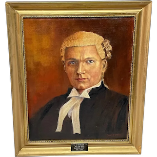 Oil Painting Portrait J C Litherland (Sydney) Barrister At Law 1897-1983