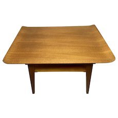 Compact Vintage Mid 20th Century Myer Curved Top Teak Coffee Table