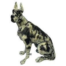 "Great Dane Dog ""On Guard"" Sculpture Limited Edition 62/295 April Shepherd"