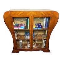 Art Deco Curved Walnut Bookcase