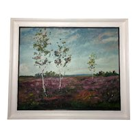 Polish School Contemporary Impressionist Oil Painting Summer Landscape