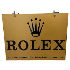 Rolex Double Sided Shop Wall Swinging Shop Sign Old Bond Street Mayfair London