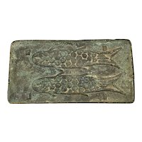 Small Chinese Antique Bronze Coin Fish Mould