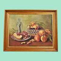 Still Life with Fruit, a wonderful original German oil painting