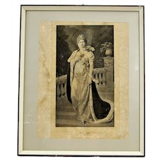 Queen Louise of Prussia, Vintage Chromolithograph Print