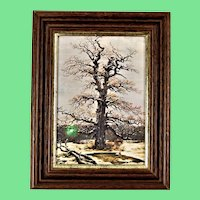 Oak in the snow by Caspar David FRIEDRICH