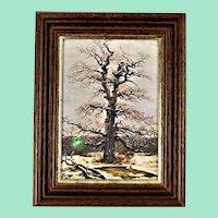 Oak in the snow by Caspar David FRIEDRICH