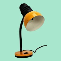 Vintage yellow lamp, 1970s