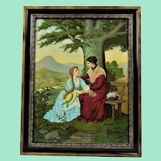 If you still have a mother, thank God and be satisfied.Beautiful lithograph.Romantic journey through old Germany
