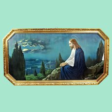 Christ on the Mount of Olives. signed by Giovanni