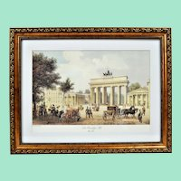 The Brandenburg Gate. vintage lithography
