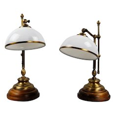 Pair of vintage student lamps, made in Germany in the 60s and 70s.