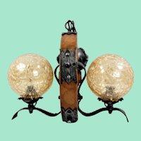 Rustic ceiling lamp, handmade Germany 30s - 40s