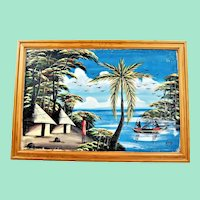 Kenya 1990 wonderful painting by Kaso