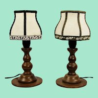 Rustic table lamps 1950