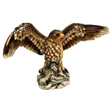 Vogel Adler Royal - figurine signed A. Lucchesi, Faro, hand-painted