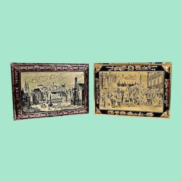Biscuit boxes, vintage from Lebkuchenfabrik E. Otto Schmidt Nuremberg, Germany
