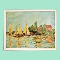 Krannich nach Monet ,oil painting on wood