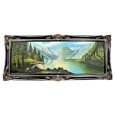 Mountain landscape, oil painting on canvas