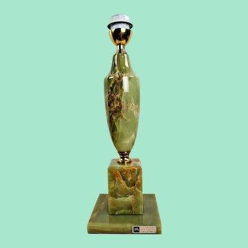 Vintage Onyx and brass lamp, Regency lamp