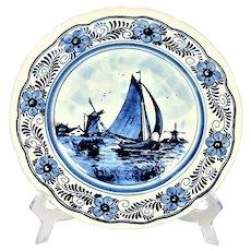 Delfts vintage decorative plate