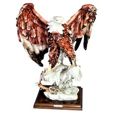 The eagle on the snow by G. Armani statuette  Florence Capodimonte