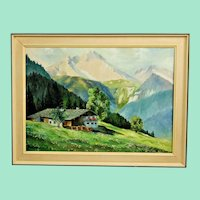 Cottage in the Alps oil painting