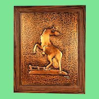 Handmade vintage copper painting, copper painting. Signed by A.Eppler