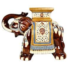 Vintage elephant from the English majolica pottery Seat Raj