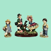 Three vintage figurines. Decorative and beautifully detailed.