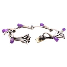 Antonio Reino Taxco Sterling silver bracelet with Amethyst