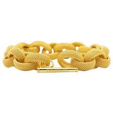 Tiffany & Co. 18 Karat Gold Mesh Link Toggle Bracelet