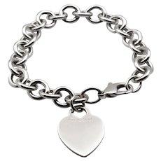 Tiffany & Co. Heart Tag charm Bracelet in Sterling Silver