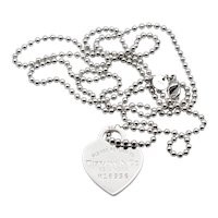 Tiffany and Co. Please Return To Tiffany Tag necklace in Sterling Silver