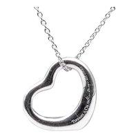 Tiffany & Co. Elsa Peretti Open-Heart Necklace in Sterling Silver