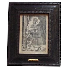 16th Century Woodcut Etching Engraving Artist Hans Beham Christ Man of Sorrows