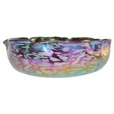 LOETZ Antique Amethyst Papillon Bohemian Art Glass Bowl