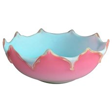 Triple Cased Peachblow New England Art Glass Bowl