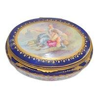 Sevres Ormolu French Porcelain Jewelry Casket Box