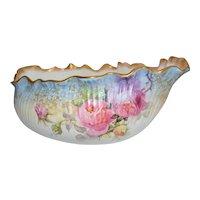 Doulton Burslem English Porcelain Center Bowl Hand Painted Rose Decor