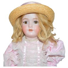 "Handwerck 28"" Bisque Child Doll Mold 109 Stamped Composition Body"