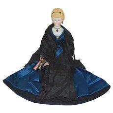 Antique Parian Bisque Doll Empress Augusta Iron Cross Necklace by ABG Alt Beck Gottschalk
