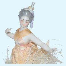 Rare Porcelain Half Doll by Kister Ballerina Dancer French Market