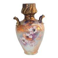 Royal Bonn Vase Hand Painted Tiffany Finish Franz Mehlem Germany