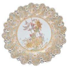 Doulton Burslem Spanish Ware Painted Plate Pierced Rim