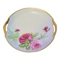 Zeh Scherzer & Co. Bavarian Cake Plate Rose Gold Decor