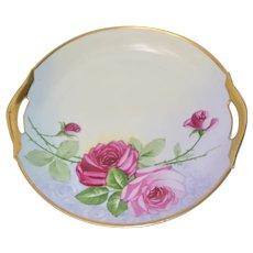 Zeh Scherzer & Co. Bavarian Cake Plate Rose Gold Decor