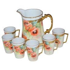 Bavaria Porcelain Lemonade Water Set 7 pc. Signed
