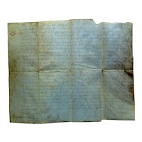 1752 Colonial Land Grant in Frederick County, VA signed by Thomas Fairfax, 6th Lord Fairfax of Cameron