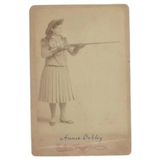 "Annie ""Sure-Shot"" Oakley, Albumen Cabinet Photo, dated 1893, Chicago"